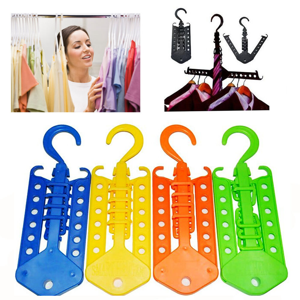 Multi Function Clothes Hangers Space Saving Closet: New Magic Clothes Multi Hanger Space Saving Folding Hook