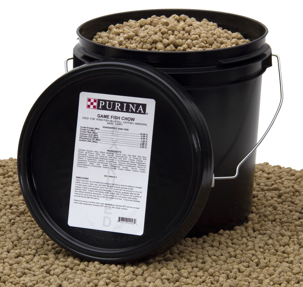 purina mills game fish chow pond pellets for bluegill