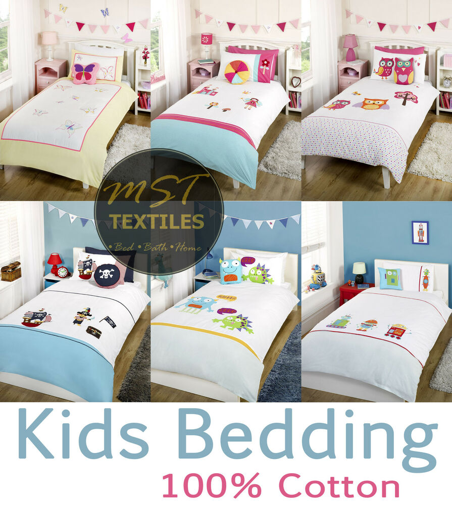 KIDS BOYS GIRLS CHILDRENS THEMED BEDROOM 100% COTTON ...