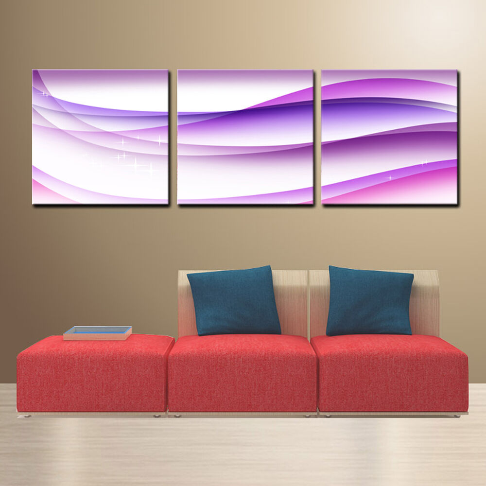 abstract ready to hang set of 3 digital mounted wall art improved canvas print ebay. Black Bedroom Furniture Sets. Home Design Ideas