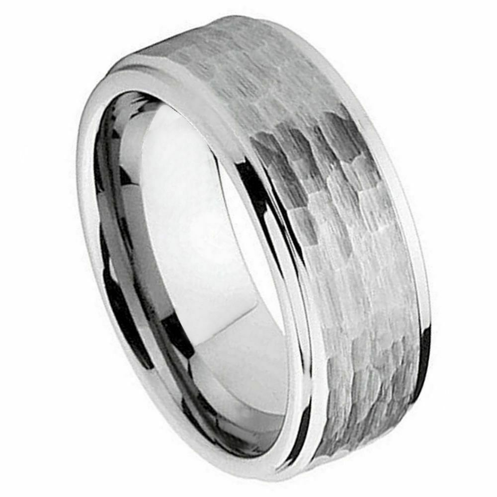 9mm tungsten carbide men39s wedding band ring brushed for Mens wedding ring bands