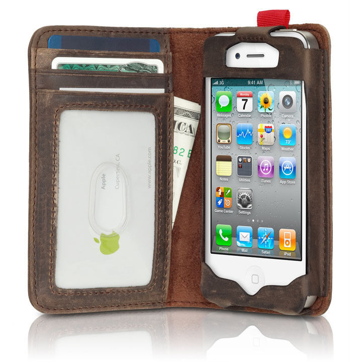 iphone 4 wallet case new antique book style cover card wallet brown for 14411