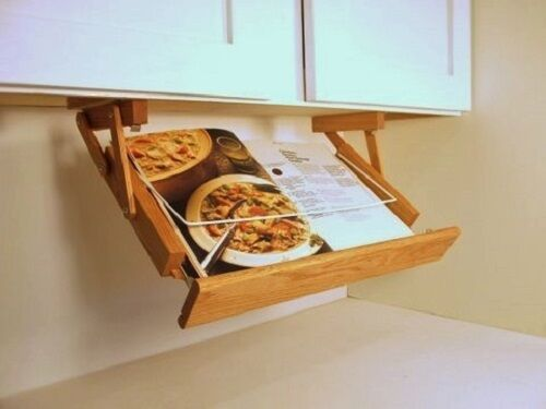 kitchen cookbook storage cabinet mounted cookbook holder handmade in america 3411