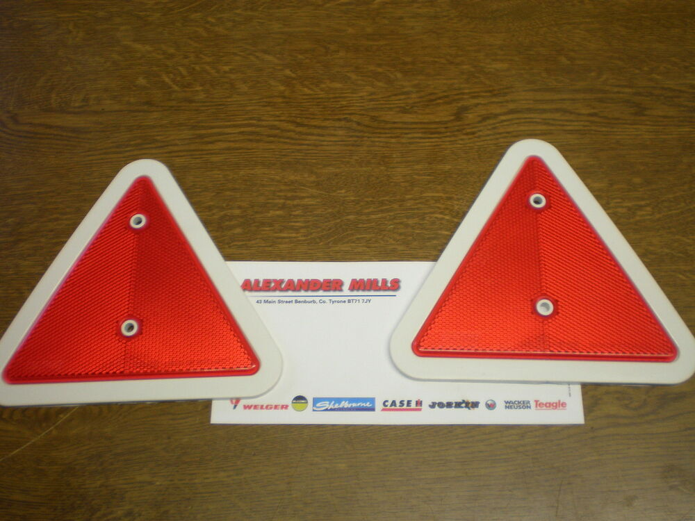 Tractor Reflective Triangles : Tractor triangle reflector pk red white edge trailers