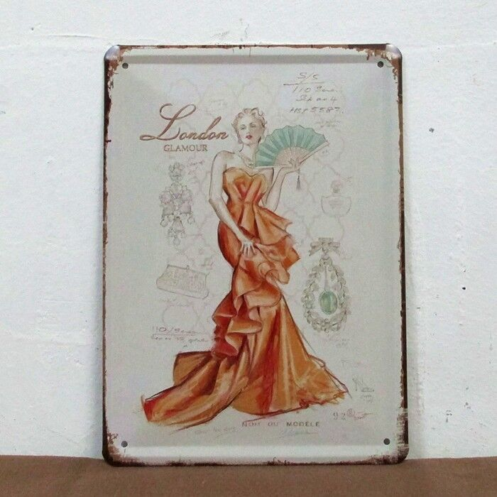London fashion vintage tin sign bar pub home wall decor for Retro wall art