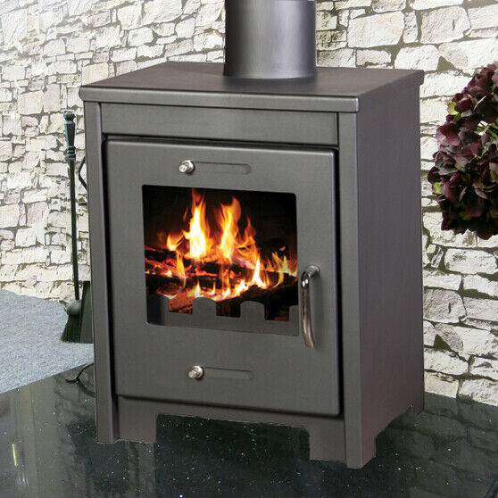 cube 9kw wood burning multi fuel wood burner modern. Black Bedroom Furniture Sets. Home Design Ideas