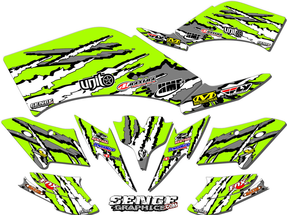 All years kawasaki kfx80 kfx 80 graphics kit decals deco for Stickers deco