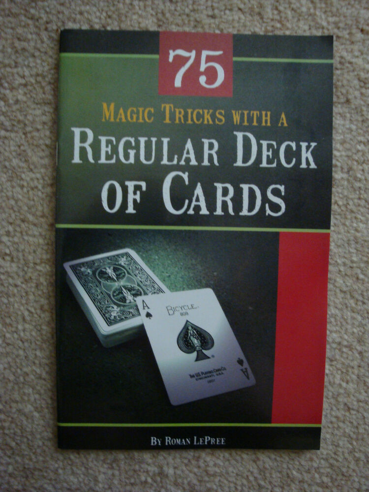 75 MAGIC TRICKS WITH A REGULAR DECK OF CARDS BOOKLET