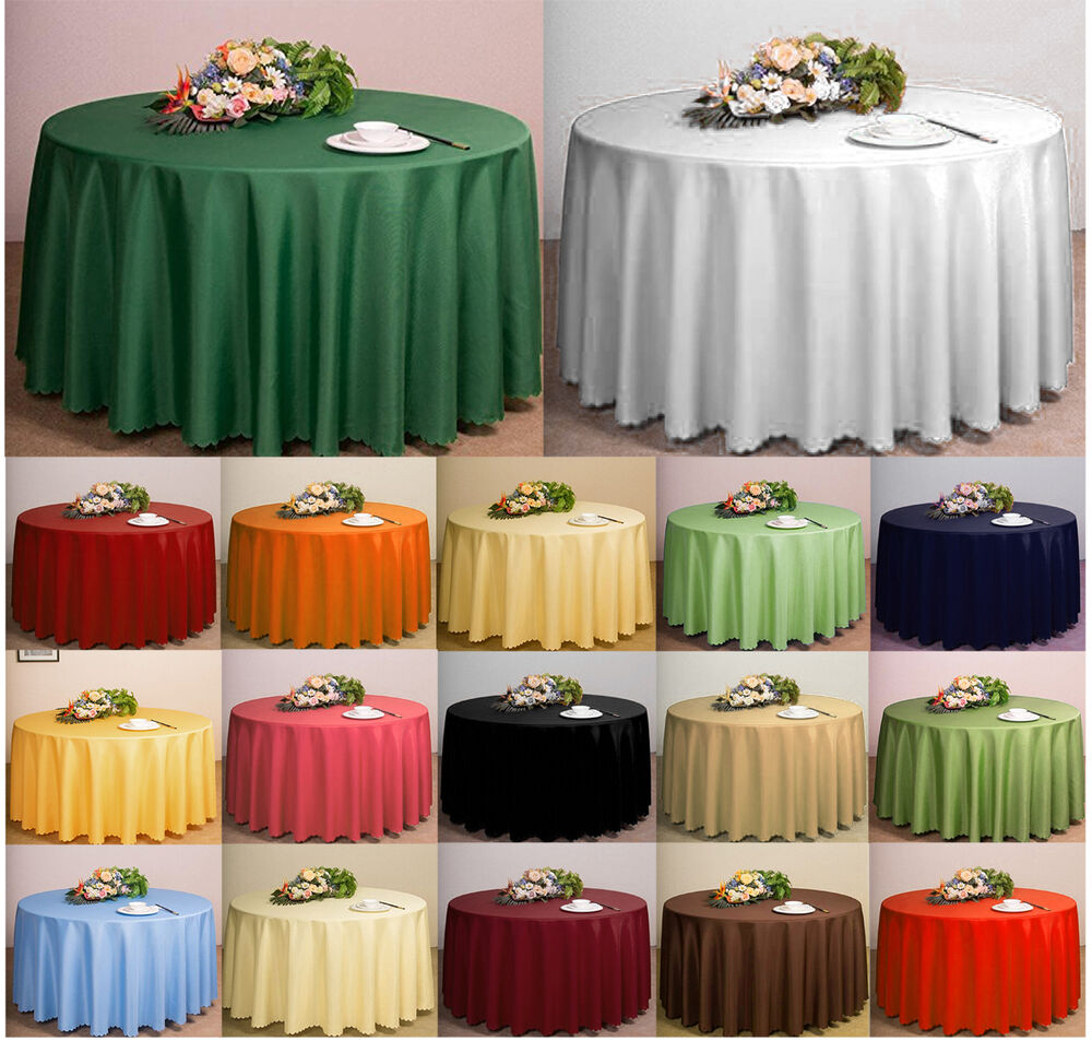 Plain Circular Round Tablecloth Solid 68 Quot Inches Clean