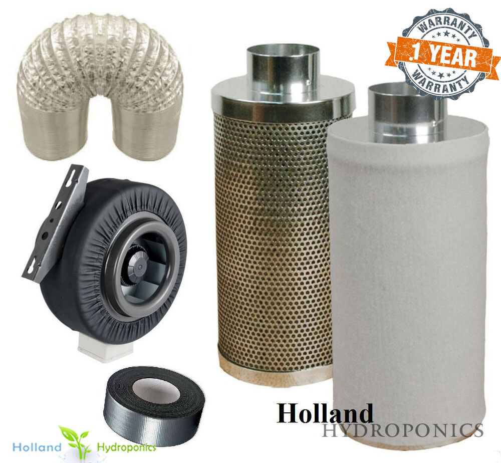 6 Duct Fan Roof Vent Kit : Inch carbon filter ducting duct fan for hydroponics grow