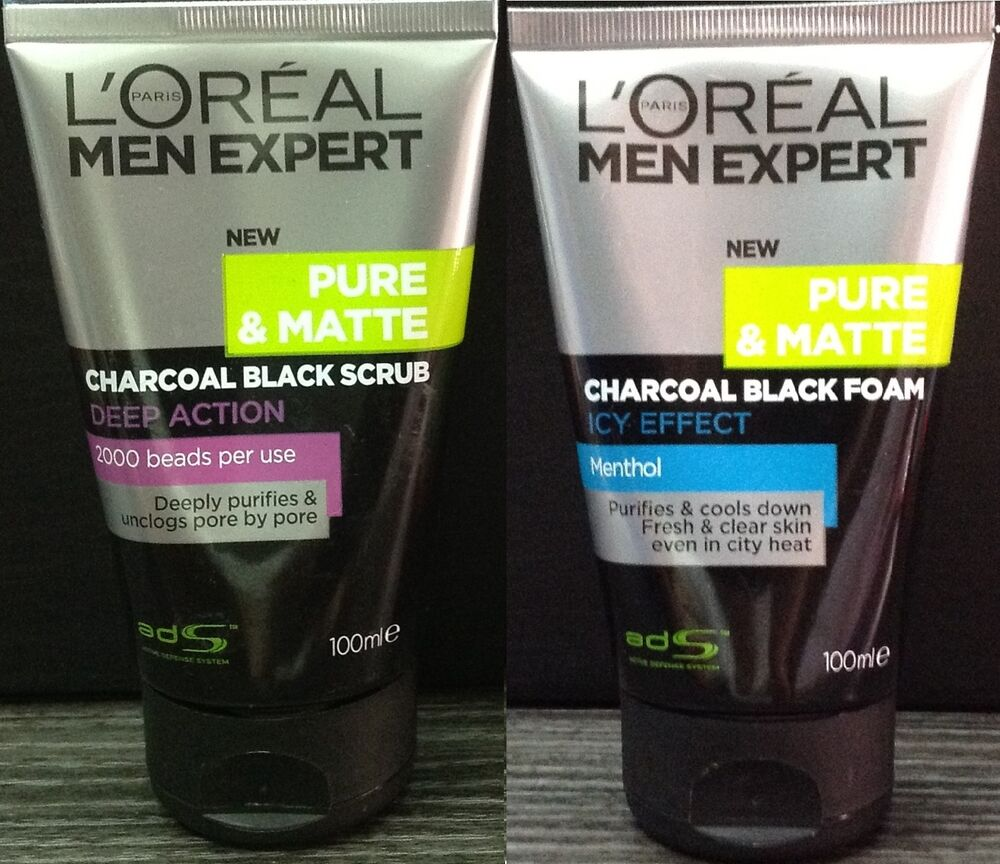 1000 Ideas About Charcoal Face Wash On Pinterest: 2x 100mL LOREAL MEN EXPERT Pure Matte ICY CHARCOAL SCRUB