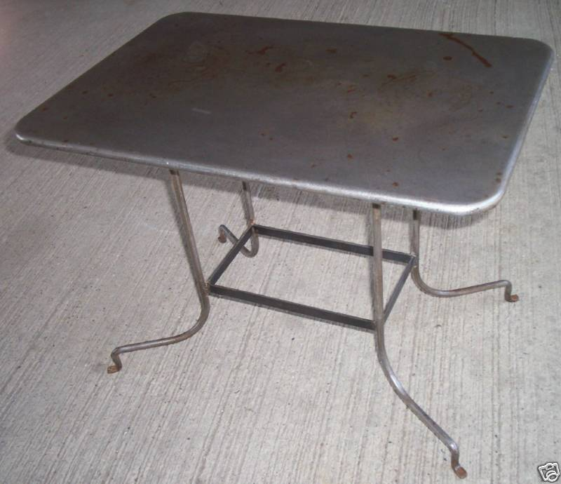 Young Industrial Coffee Table: Vintage Industrial,Machine Age Metal Coffee, Side, End
