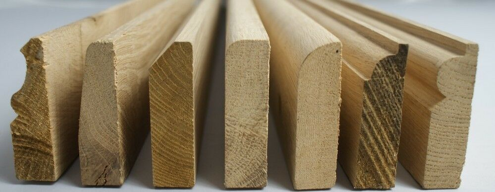 Solid wood oak skirting board architrave boards for Wood skirting