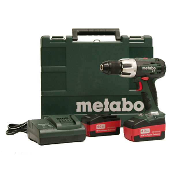metabo sb18 lt 18v li ion 4 0 ah 1 2in cordless hammer drill driver kit ebay. Black Bedroom Furniture Sets. Home Design Ideas