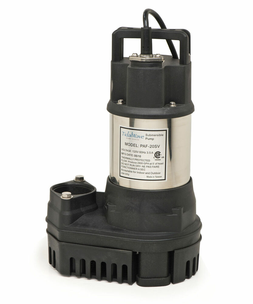 Atlantic pond waterfall pump paf 75 tidal wave ebay for Pond waterfall pump