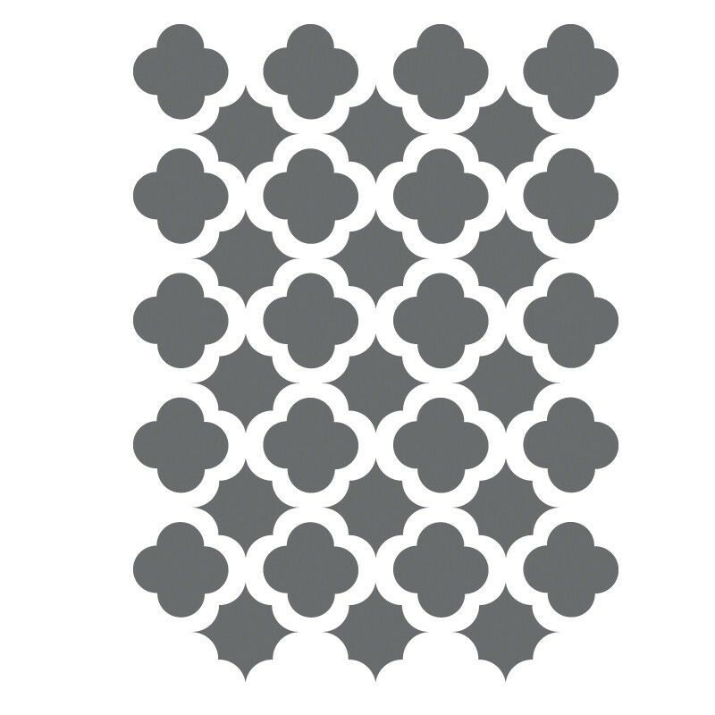 Moroccan trellis tile stencils template small scale for for Decor 6 template