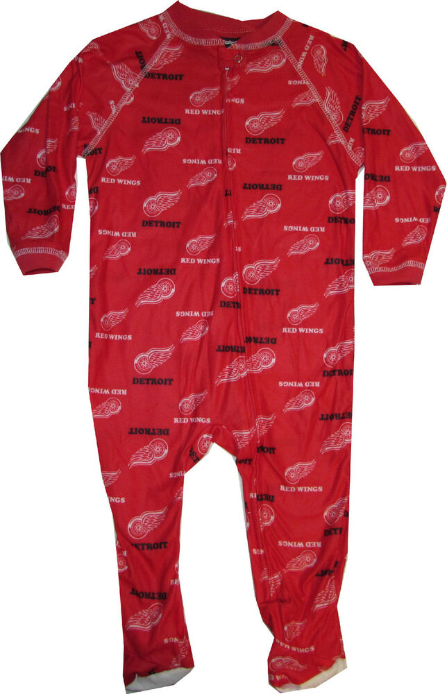 New Detroit Red Wings 18 Month Infant Baby Sleeper Pajamas