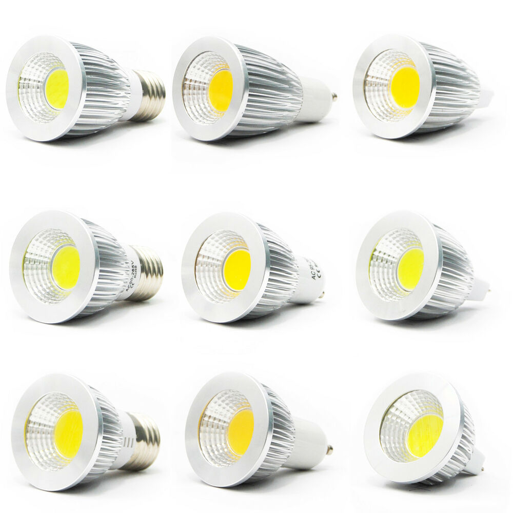 ultra bright mr16 gu10 e27 dimmable led cob spot down light lamp bulb 6w 9w 12w ebay. Black Bedroom Furniture Sets. Home Design Ideas