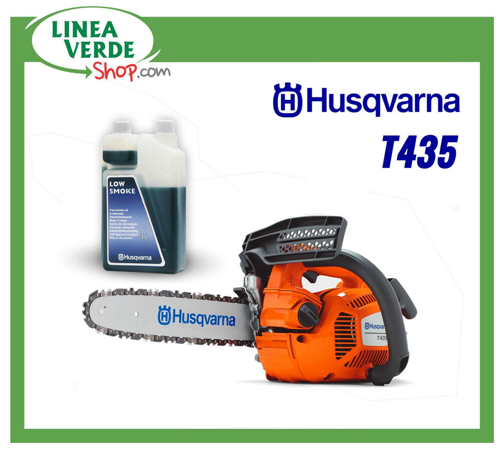 tronconneuse husqvarna t435 taille 1 litre d 39 huile melange guide 30 cm ebay. Black Bedroom Furniture Sets. Home Design Ideas