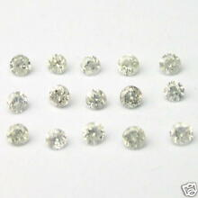 1/4 Carat 2.5mm WHITE ROUND BRILLIANT POLISHED DIAMONDS