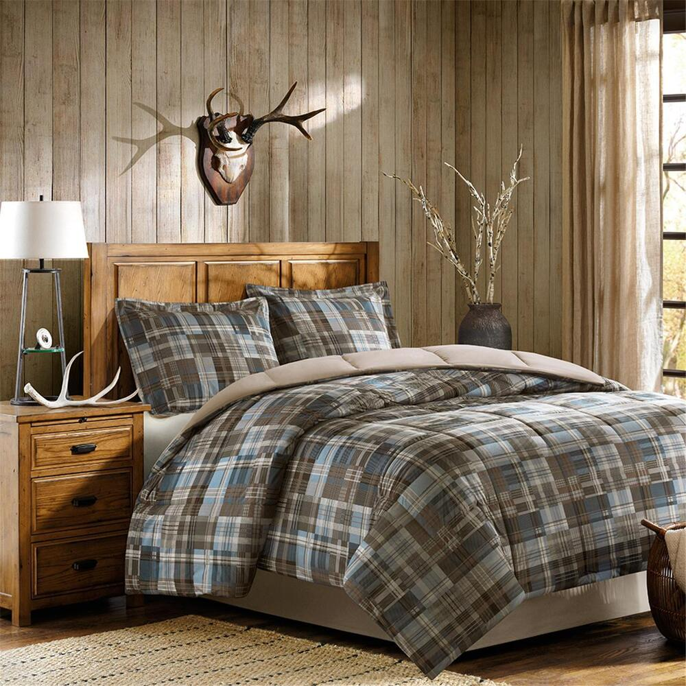 Black And Tan Buffalo Check Bedding