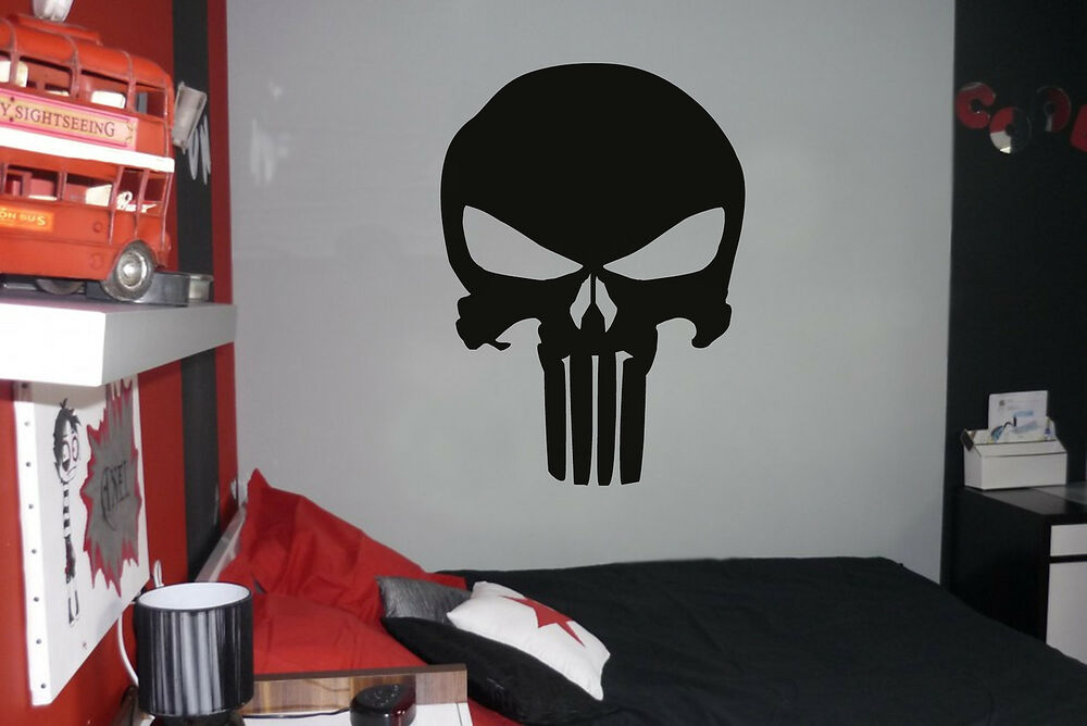 Punisher vinyl wall car decal sticker big or small for Peinture chambre ado