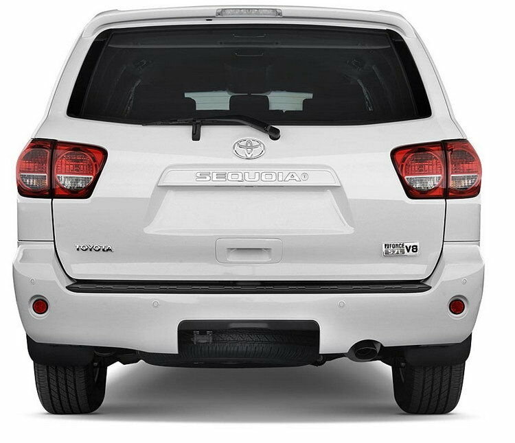 chrome mirror toyota sequoia back door letters rear tailgate inserts not decals ebay. Black Bedroom Furniture Sets. Home Design Ideas