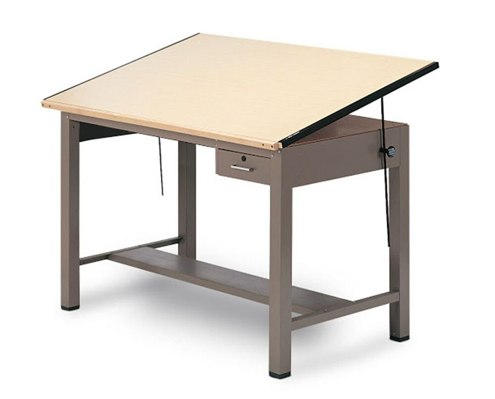 Mayline Ranger Steel Four-Post Drafting Table With tool ...