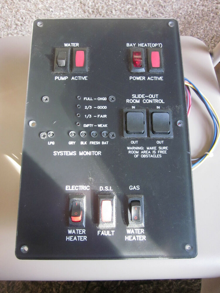 diagram of boat wiring systems monitor panel camper trailer rv new on shelf ebay  systems monitor panel camper trailer rv new on shelf ebay