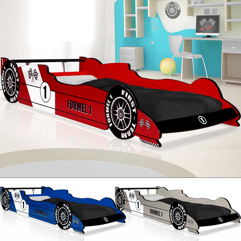 autobett f1 formel 1 kinderbett bett schlafzimmer kinderm bel rennbett spielbett ebay. Black Bedroom Furniture Sets. Home Design Ideas