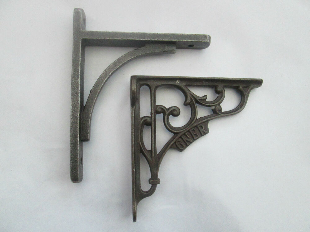 Cast Iron Old English Vintage Shelf Support Book Sink