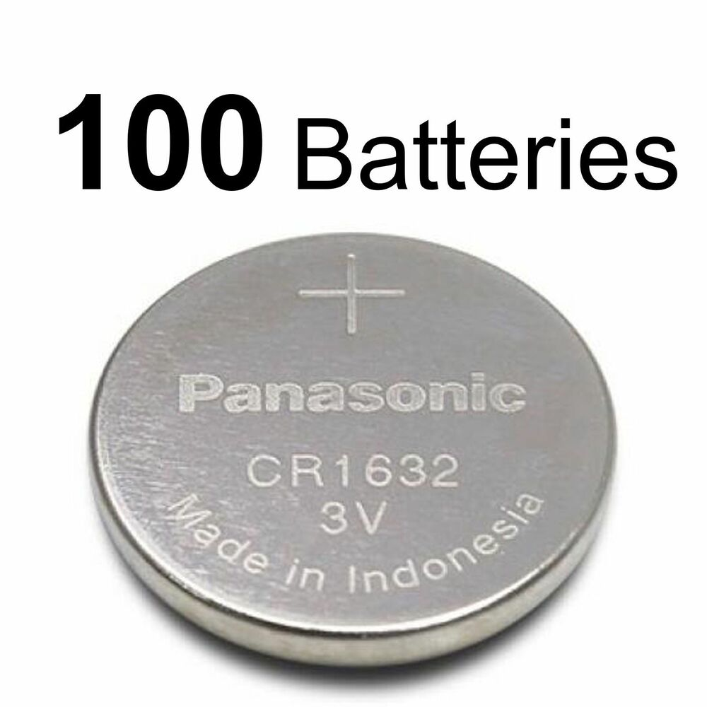 100 panasonic cr1632 ecr1632 cr 1632 3v lithium battery new 100 coin cells ebay. Black Bedroom Furniture Sets. Home Design Ideas