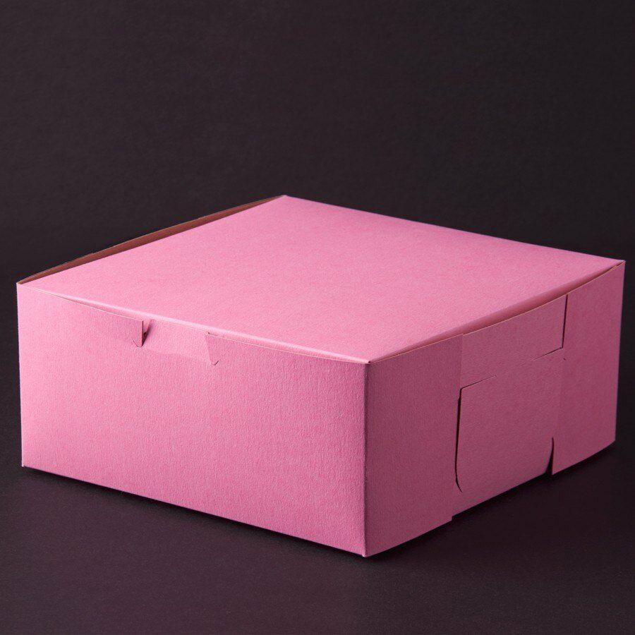 10 count PINK 10x10x4 Bakery or Cake Box | eBay