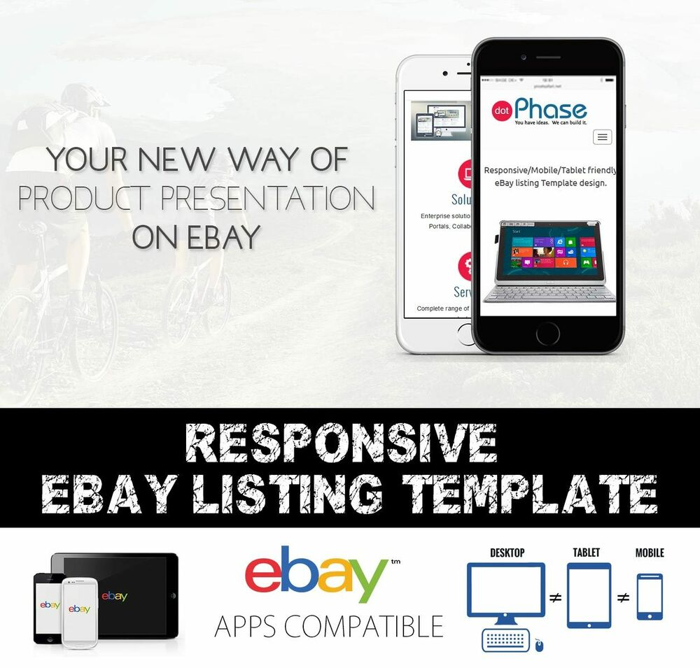 responsive ebay listing template compatible with inkfrog auctiva listing tools ebay. Black Bedroom Furniture Sets. Home Design Ideas