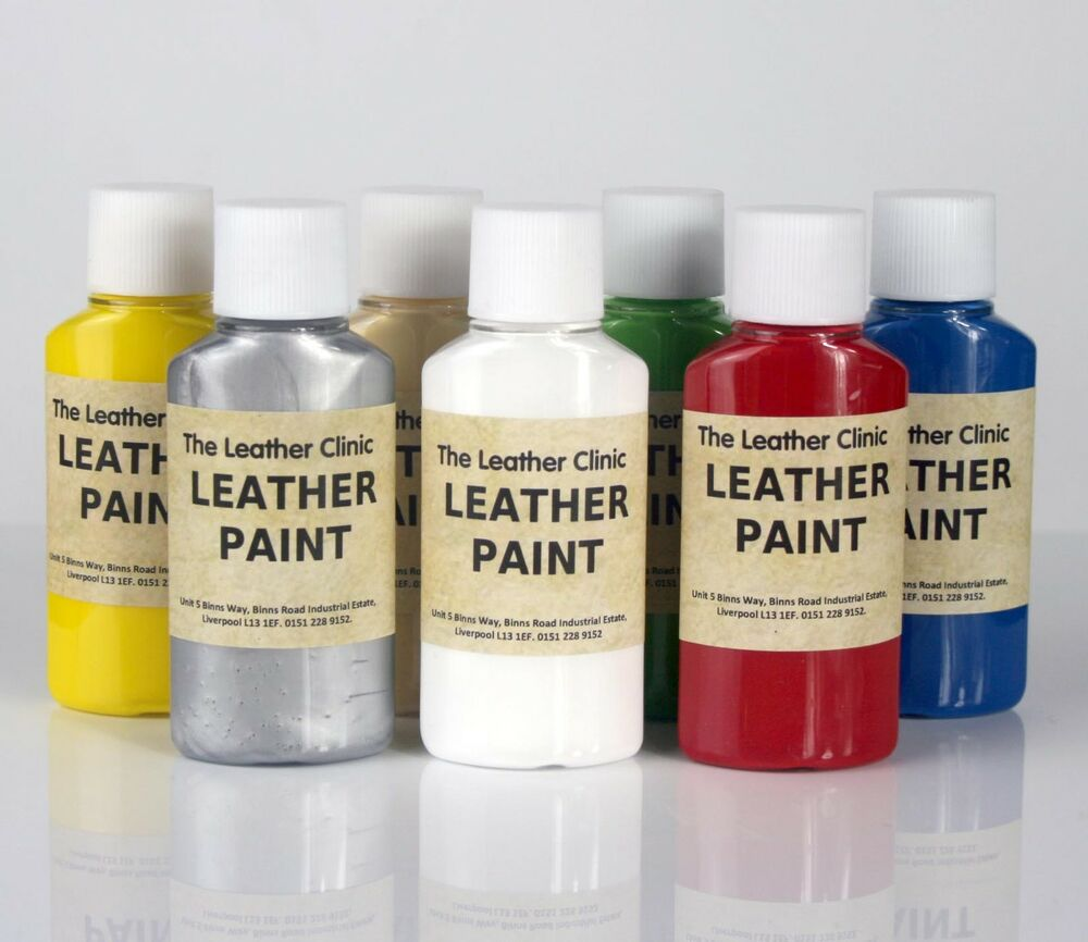 Leather Sofa Paint Kit: Leather Paint. For Custom Designs And Artwork. Brush