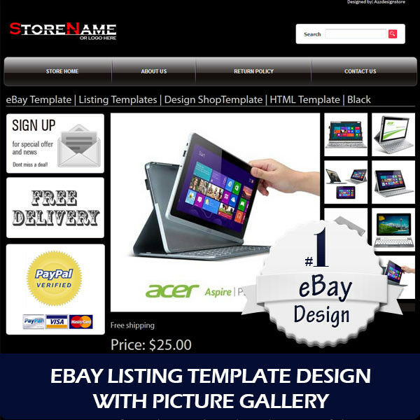 how to create a template for ebay listing