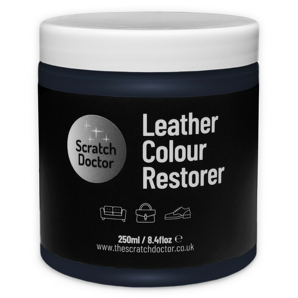Leather Dye For Sofas Uk: NAVY BLUE Leather Colour Dye Restorer Repair Faded & Worn