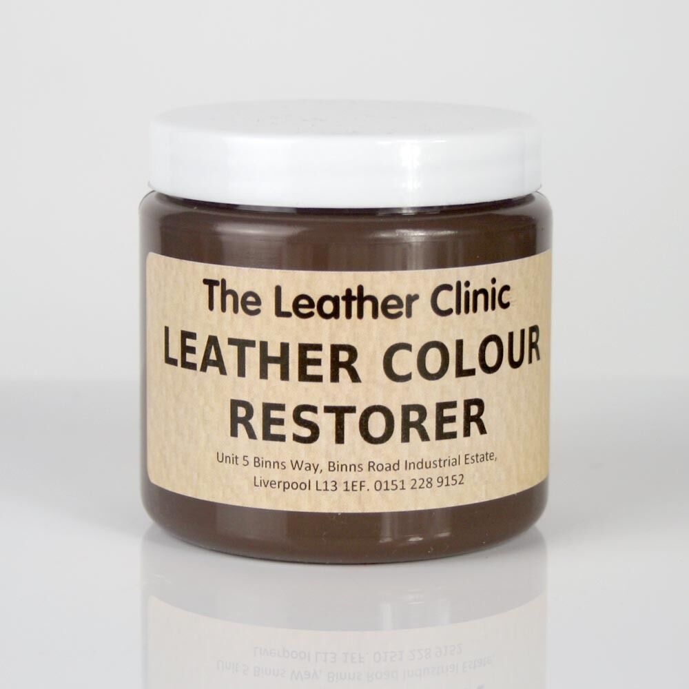 DARK BROWN Leather Colour Dye Restorer Repair Faded Worn Leather Sofas