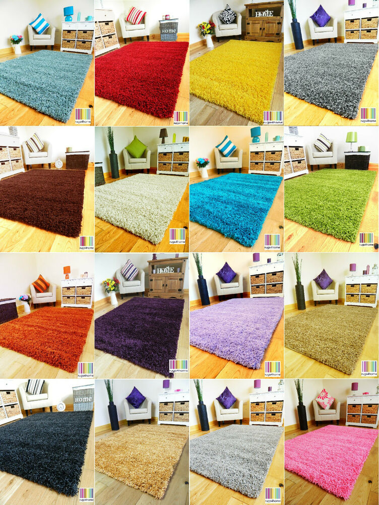 New plain soft thick colorful shaggy area rug living room - Small living room rug ...