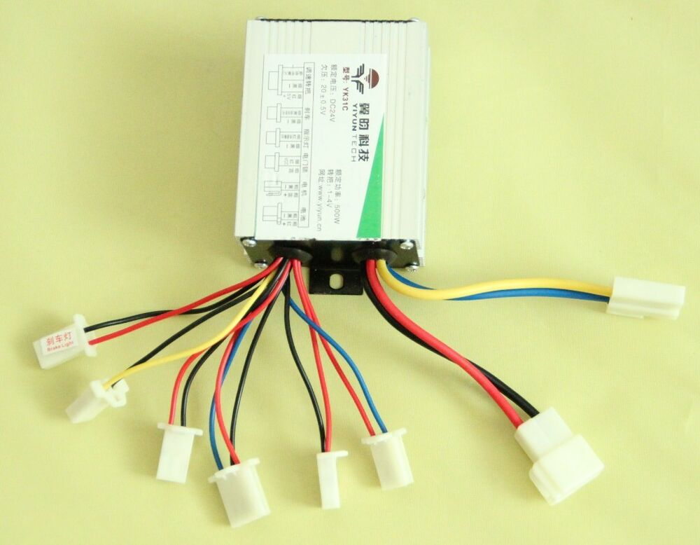 24v 500w New Motor Brush Controller For Ev Electric Bike Bicycle Scooter E
