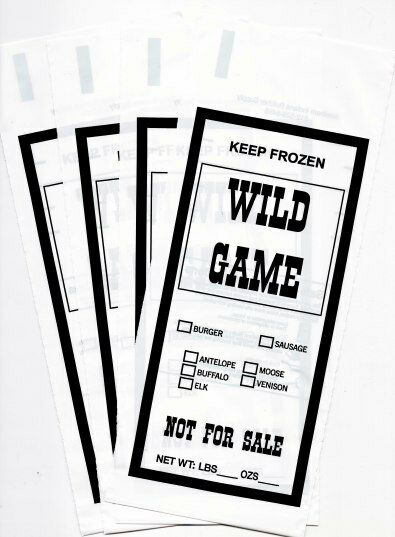 wild game ground meat freezer chub bags 1lb 1000 count