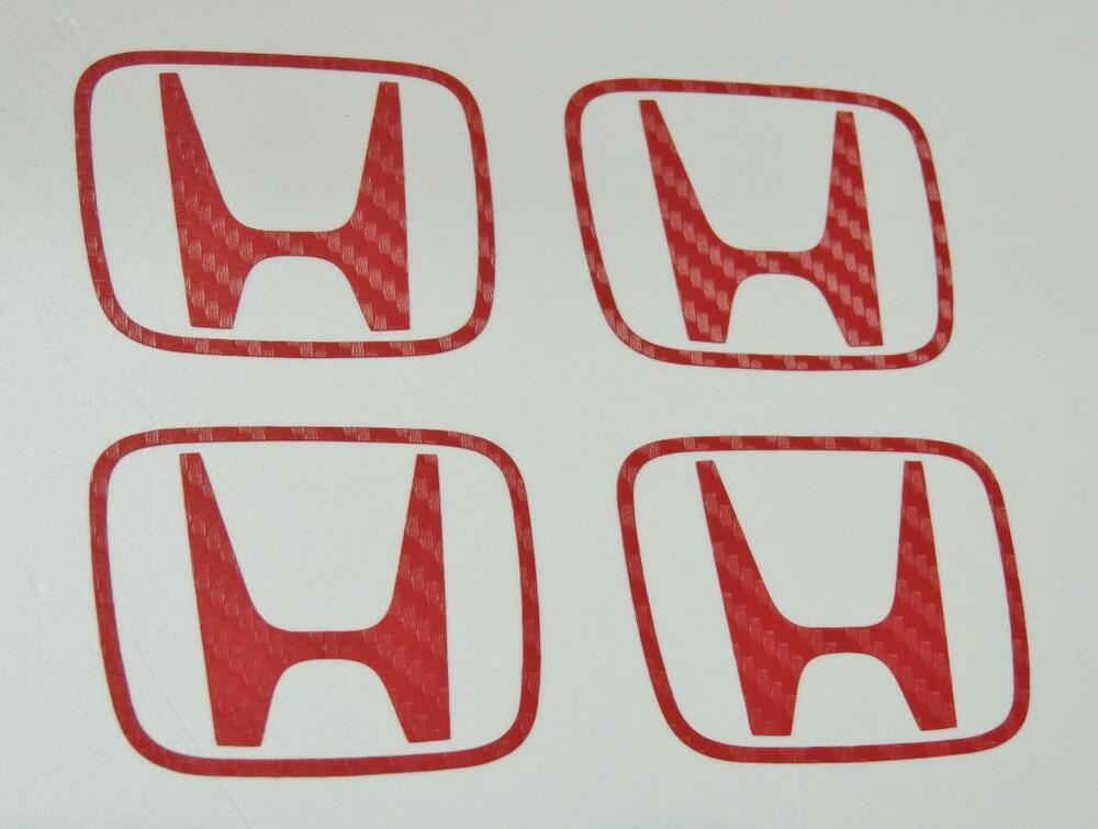 honda   carbon  red centre cap stickers decal accord cl type   jdm oem ebay
