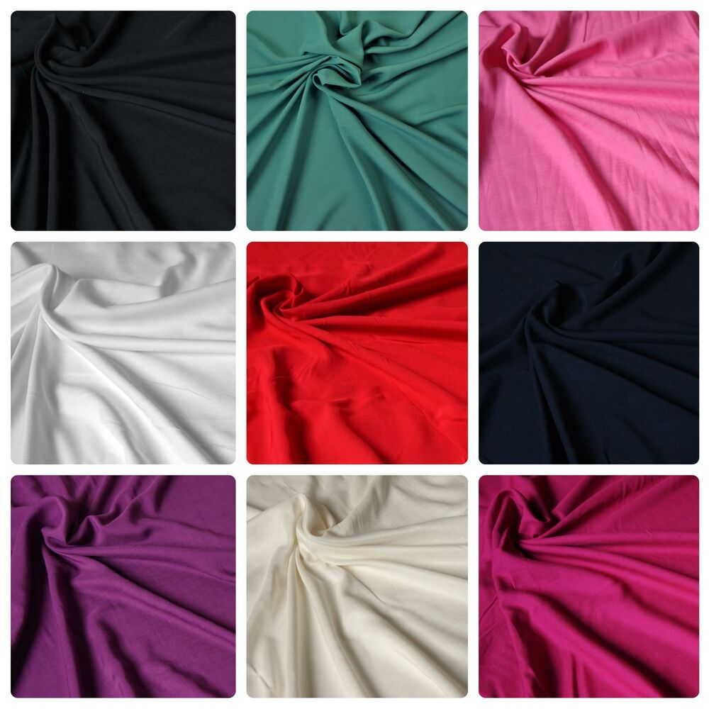 Plain Dyed 100 Viscose Fabric Various Colours Floaty