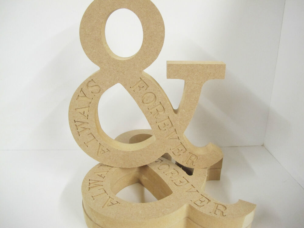 large wooden letters wooden letters amp always and forever premium quality ex 22697 | s l1000