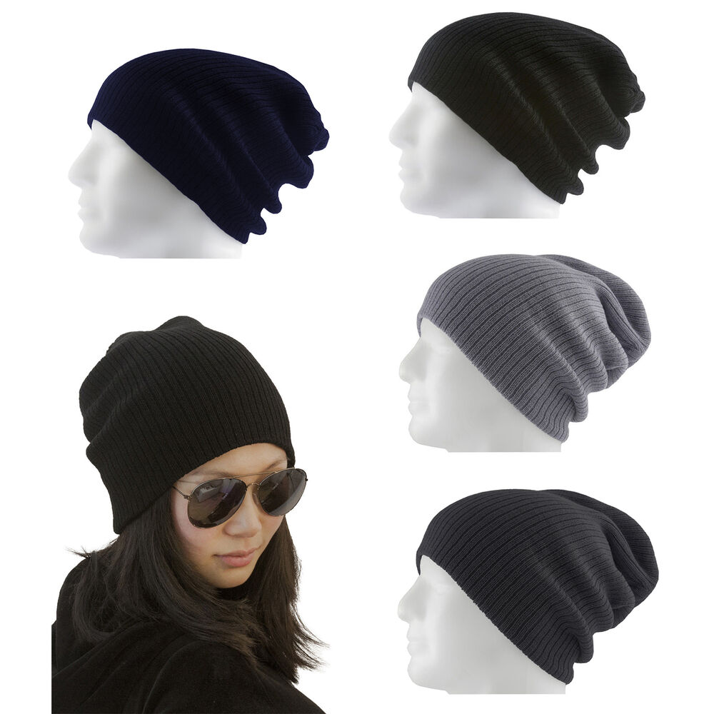 long beanie m tze herren damen kinder unisex winter farbe w hlbar ebay. Black Bedroom Furniture Sets. Home Design Ideas