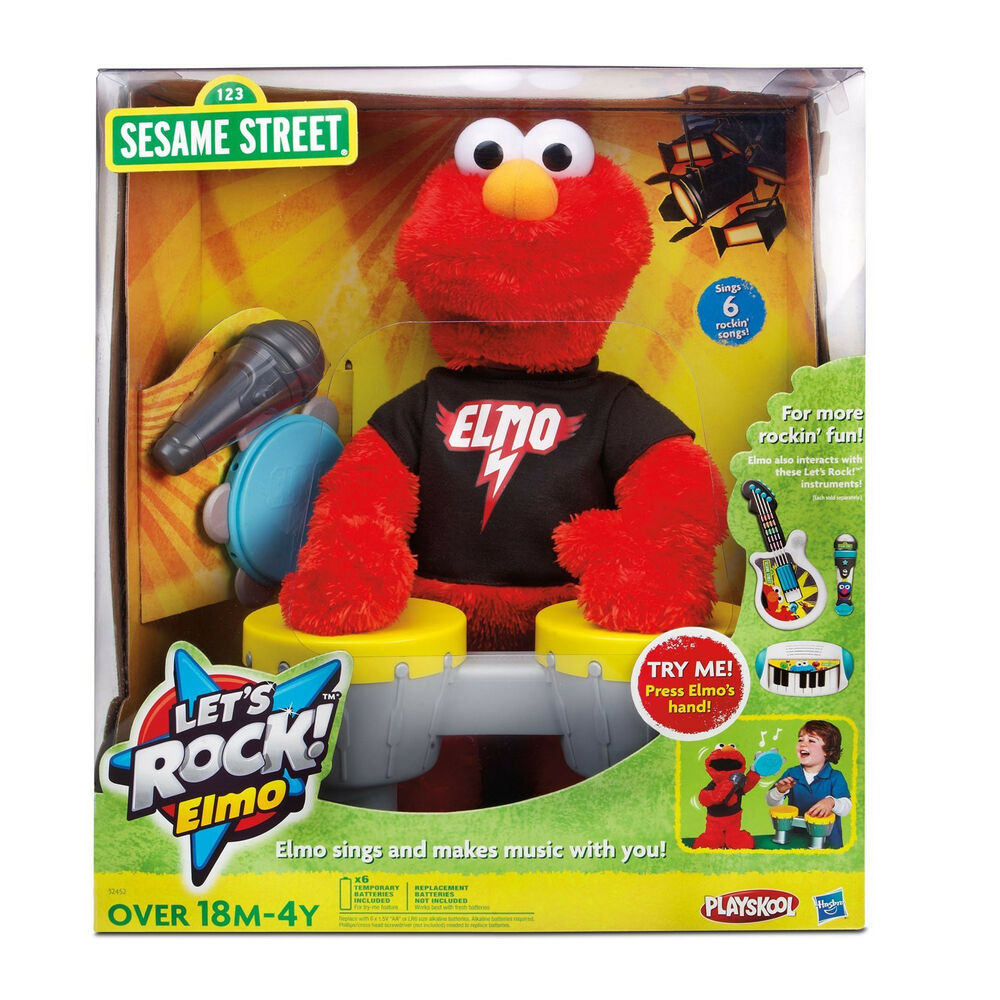 NEW SESAME STREET LETS ROCK! SINGING ELMO MICROPHONE ...