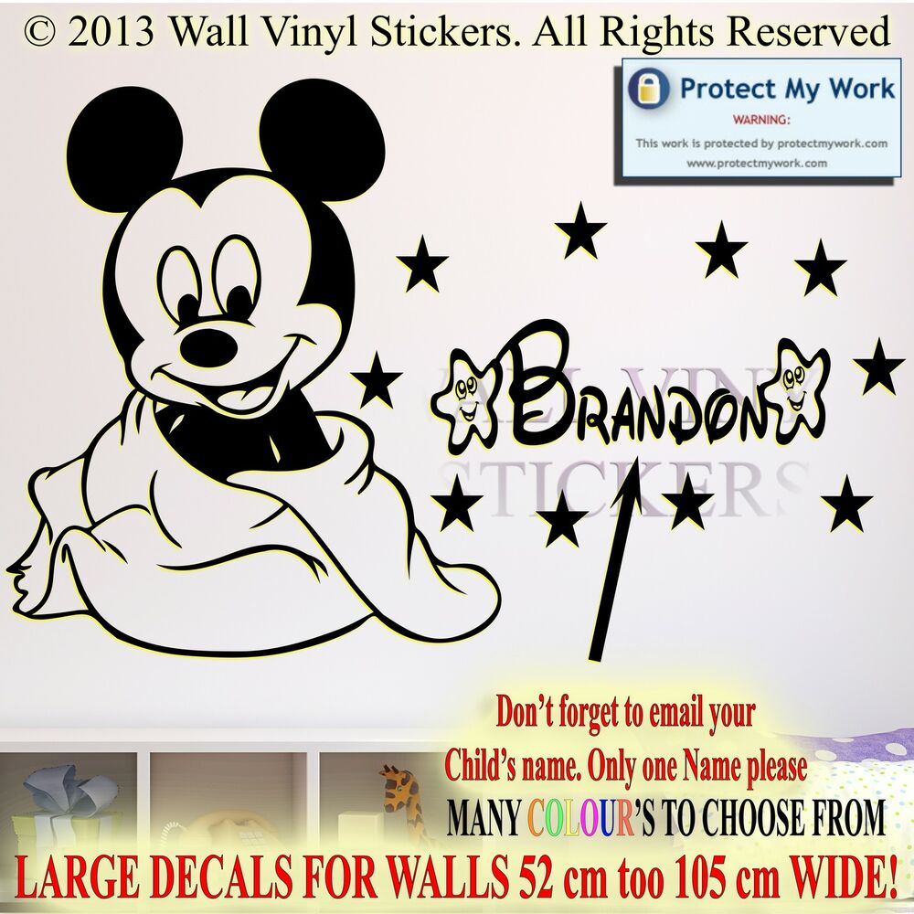 28 kids name wall stickers baby mickey mouse personalised kids name wall stickers baby mickey mouse personalised kids children name vinyl