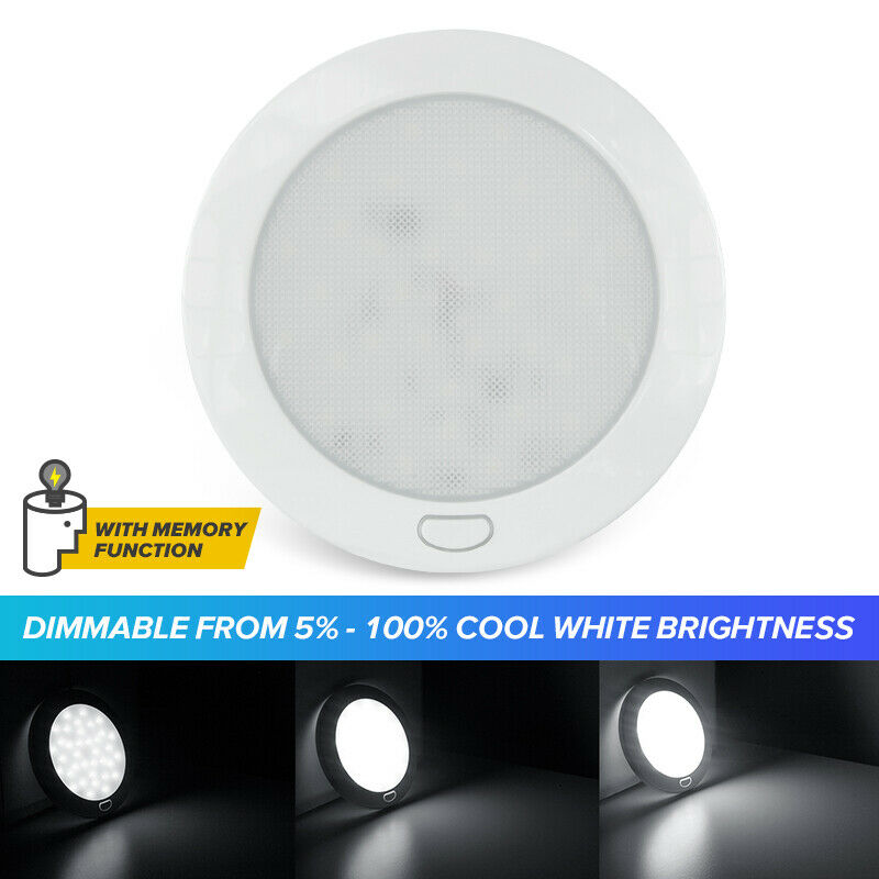 "12 Volt Rv Ceiling Lights: Cool W 5"" 12V LED Ceiling Light With Switch RV Caravan"