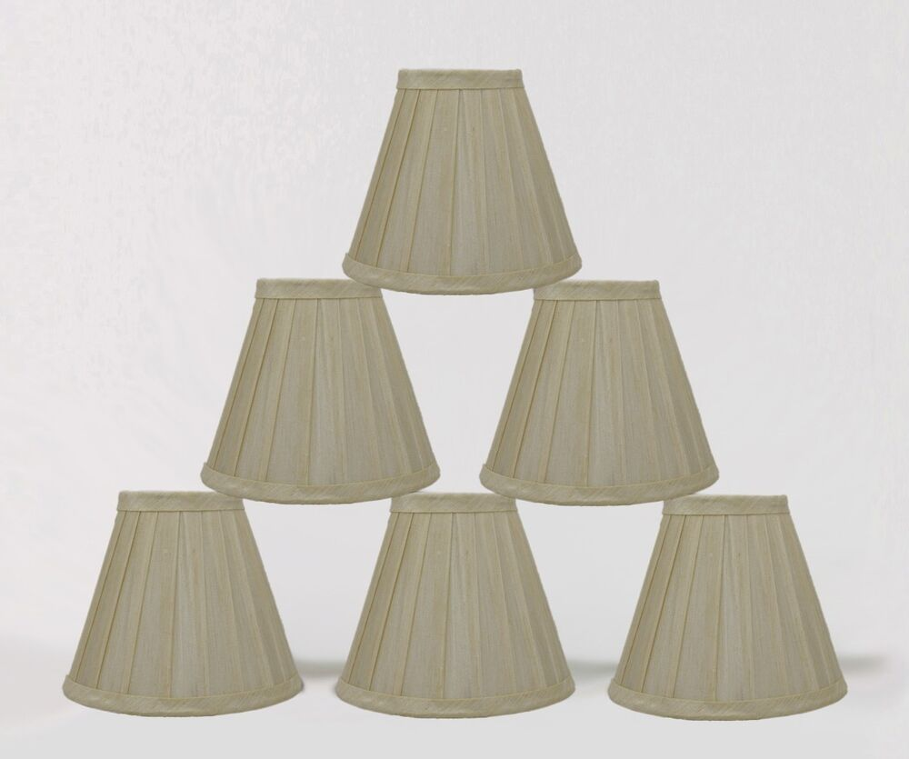 Urbanest Cream Side Pleated Chandelier Mini Lamp Shades