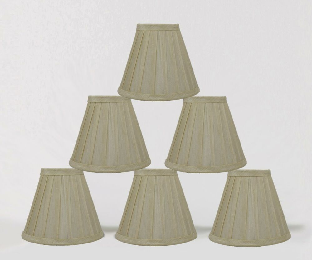 urbanest cream side pleated chandelier mini lamp shades softback 3x6x5. Black Bedroom Furniture Sets. Home Design Ideas